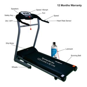2_healthgenie 4012M top treadmills for home use in India