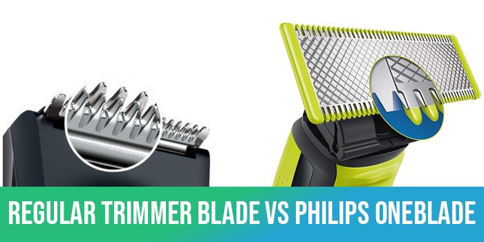 regular trimmer blade vs philips oneblade