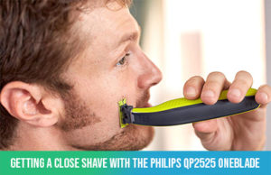 shaving with the philips oneblade