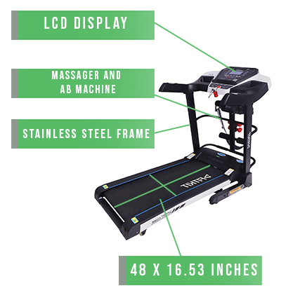 Fitkit FT200 Treadmill Overview@0,5x