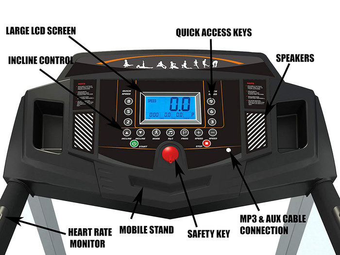 Durafit Heavy Hike Display and running features